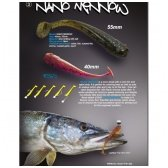 Crazy Fish NANO MINNOW 40mm (pakelyje 8vnt)
