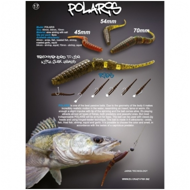 Crazy Fish POLARIS 68mm (pakelyje 8vnt) 2