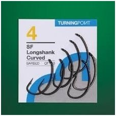 Spottedfin SF LONGSHANK CURVED BARBED HOOKS 10vnt kabliukai